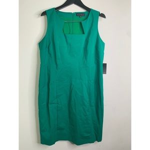 Eloquii Green Structured Sleeveless Dress